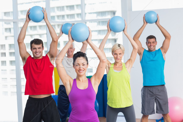 Instructeur klasse fitness portret Stockfoto © wavebreak_media