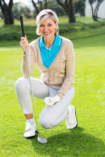 Wesoły golfa uśmiechnięty kamery klub Zdjęcia stock © wavebreak_media