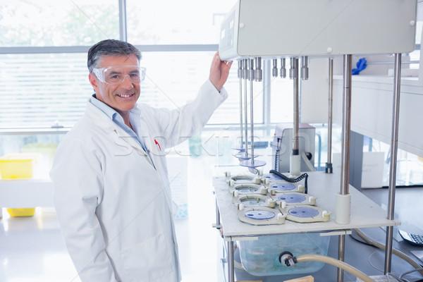 笑みを浮かべて 科学 保護眼鏡 室 病院 科学 ストックフォト © wavebreak_media