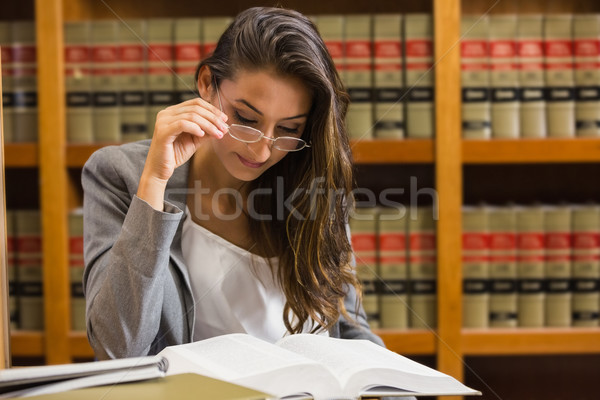 довольно адвокат прав библиотека университета книга Сток-фото © wavebreak_media