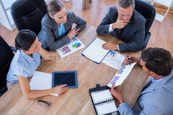 Nadenkend zakenlieden vergadering kantoor vrouw man Stockfoto © wavebreak_media