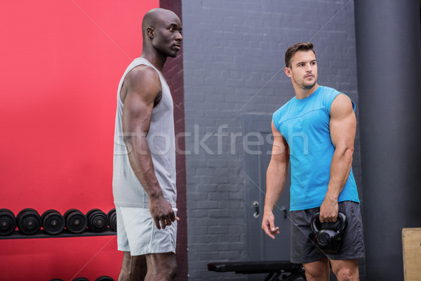 Two young Bodybuilder looking in the distance Stock photo © wavebreak_media