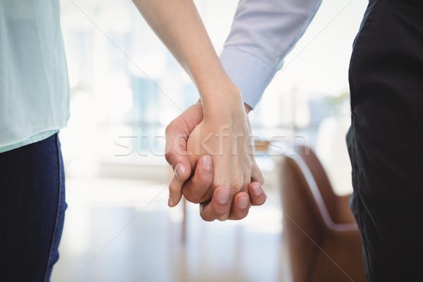 çift ayakta el ofis kadın Stok fotoğraf © wavebreak_media