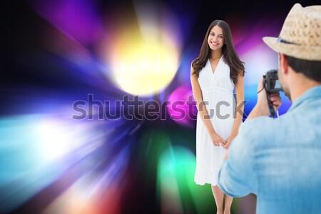 Young female singer performing during music festival Stock photo © wavebreak_media