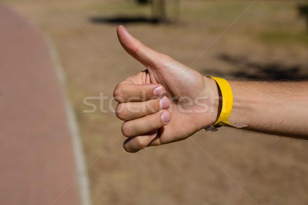 Strony człowiek przydrożny komunikacji sam Zdjęcia stock © wavebreak_media