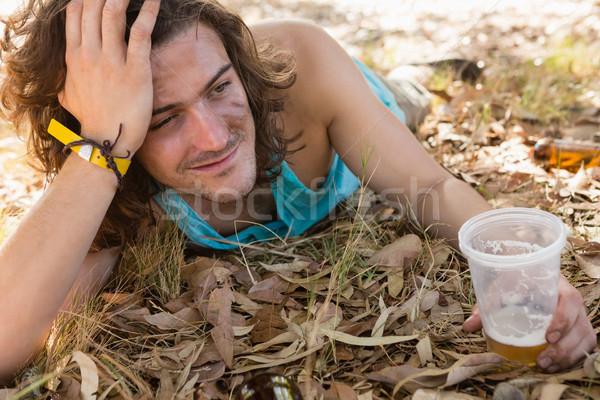 бессознательный человека парка пьяный лет только Сток-фото © wavebreak_media