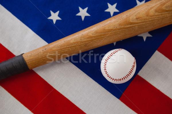 Baseballschläger Ball amerikanische Flagge Sport Hintergrund Stock foto © wavebreak_media