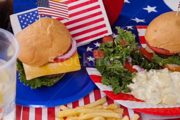 Snacks decorated with 4th july theme Stock photo © wavebreak_media