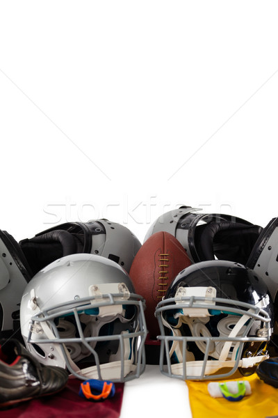 Göğüs amerikan top spor dişliler beyaz Stok fotoğraf © wavebreak_media