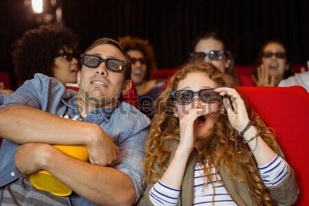 счастливым пару смотрят фильма театра человека Сток-фото © wavebreak_media
