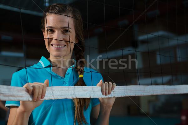 Portrait of happy female volleyball player Stock photo © wavebreak_media