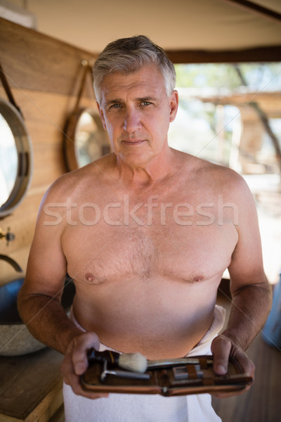 Portrait homme Safari vacances Photo stock © wavebreak_media