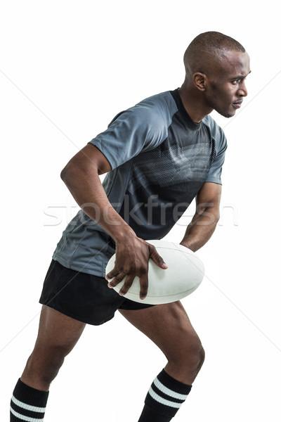 Sportoló dob rögbilabda fehér rögbi férfi Stock fotó © wavebreak_media