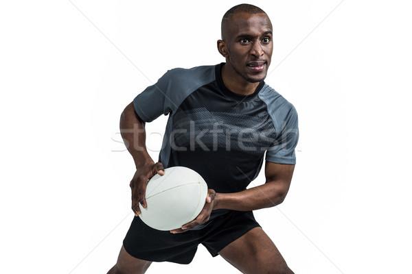 Rugby giocatore posizione palla bianco sport Foto d'archivio © wavebreak_media