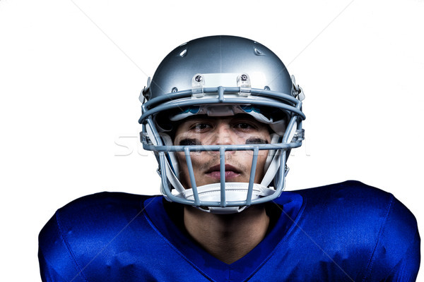 Retrato determinado americano futbolista uniforme blanco Foto stock © wavebreak_media