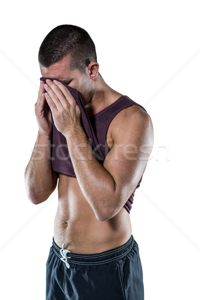 спортсмена пот лице белый человека Сток-фото © wavebreak_media