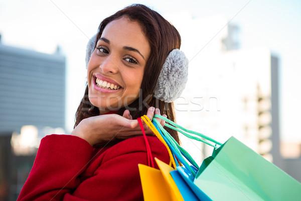 Kadın dışında mutlu kadın Stok fotoğraf © wavebreak_media