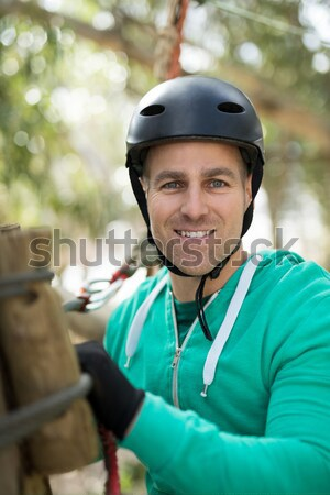 Woman enjoying zip line adventure in park Stock photo © wavebreak_media