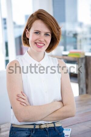 Szczęśliwy kobiet masażysta portret Zdjęcia stock © wavebreak_media