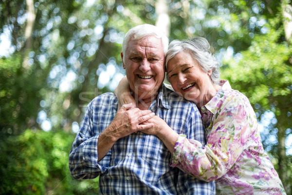 Szczęśliwy starszy kobieta za mąż Zdjęcia stock © wavebreak_media