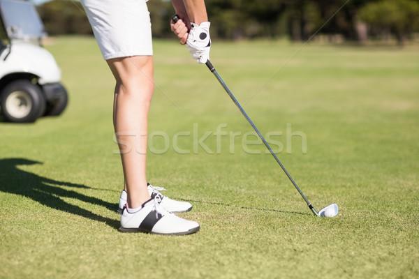 Bajo joven jugando golf pie Foto stock © wavebreak_media
