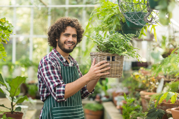 幸せ 男性 植木屋 ストックフォト © wavebreak_media