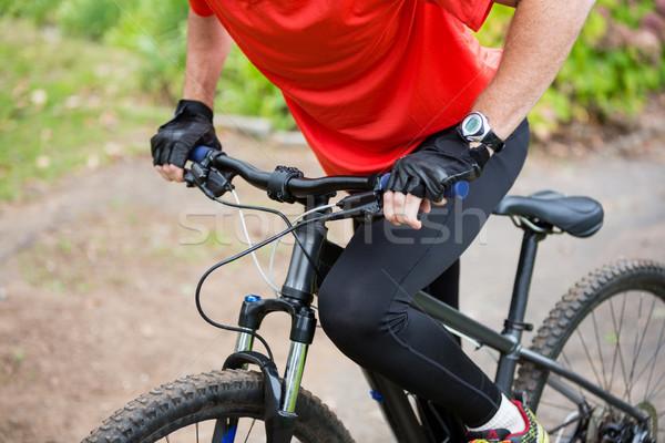 Masculina ciclista ciclismo hombre Foto stock © wavebreak_media