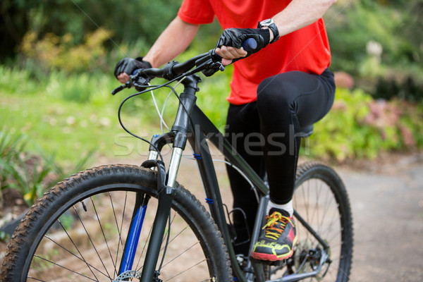 Male cyclist cycling in countryside Stock photo © wavebreak_media