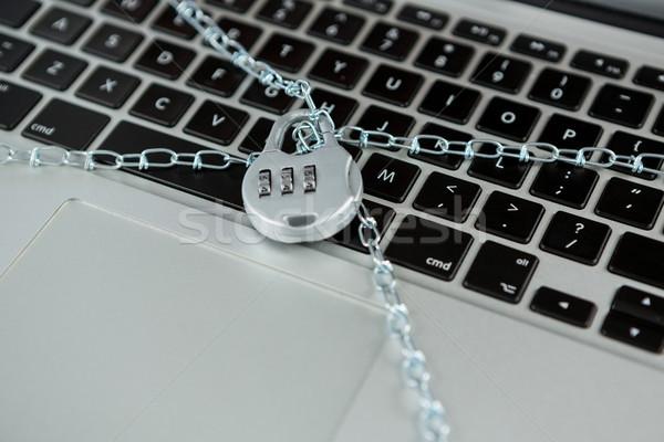 Locked laptop with chain lock Stock photo © wavebreak_media