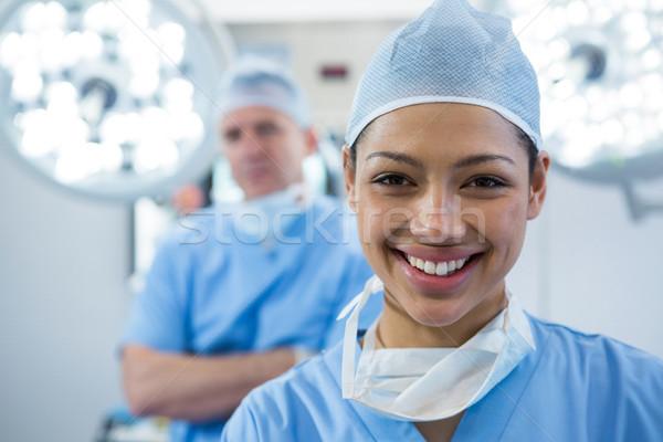 Portre kadın cerrah operasyon tiyatro gülen Stok fotoğraf © wavebreak_media