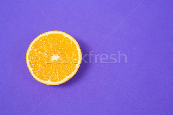 Tranche citron fruits pourpre santé communication Photo stock © wavebreak_media