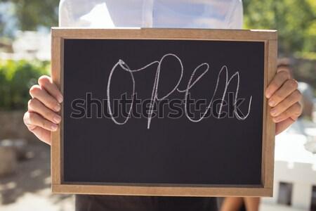 Mannelijke personeel schrijven boord organisch Stockfoto © wavebreak_media