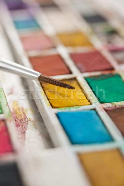 ストックフォト: ペイントブラシ · パレット · クローズアップ · 愛 · 芸術 · 教育