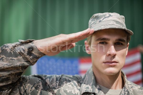 Retrato militar soldado hombre verano carne Foto stock © wavebreak_media