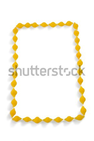 pasta arranged on white background Stock photo © wavebreak_media