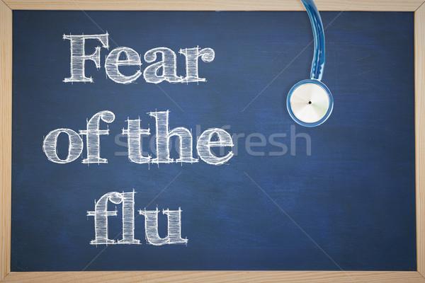 Immagine influenza stetoscopio medico lavagna Foto d'archivio © wavebreak_media
