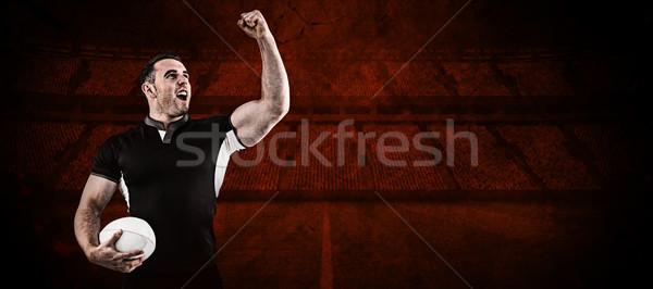Image rugby joueur balle Photo stock © wavebreak_media