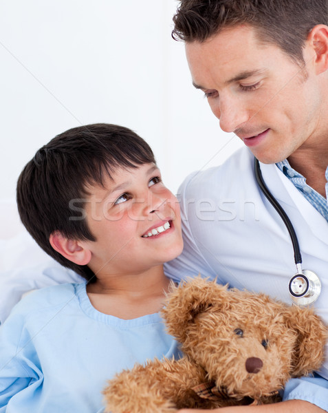 Portrait of a smiling little boy and his doctor Stock photo © wavebreak_media