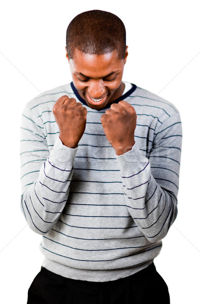 Young man with fists Clenched  Stock photo © wavebreak_media