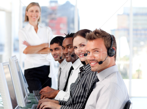 Radiant team in a call center Stock photo © wavebreak_media