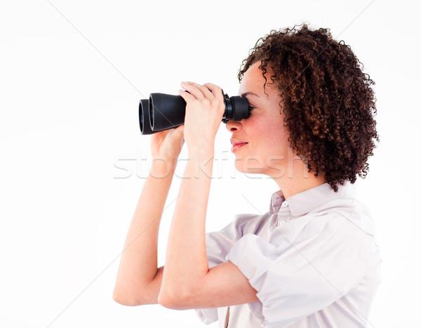Empresária binóculo mulher futuro ver Foto stock © wavebreak_media