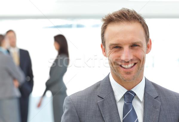 Gelukkig zakenman poseren team werken business Stockfoto © wavebreak_media