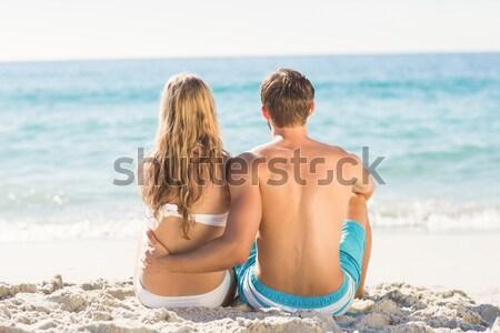 Adam kız arkadaş bakıyor deniz kadın Stok fotoğraf © wavebreak_media
