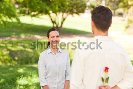 Férfi elvesz fotó barátnő család mosoly Stock fotó © wavebreak_media