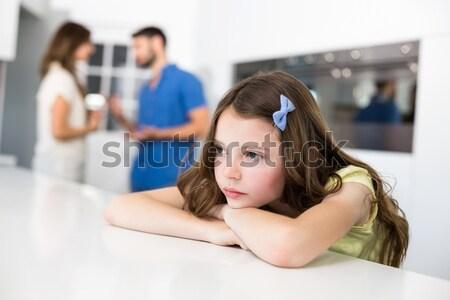 Traurig Mädchen kämpfen Eltern Frau Mann Stock foto © wavebreak_media