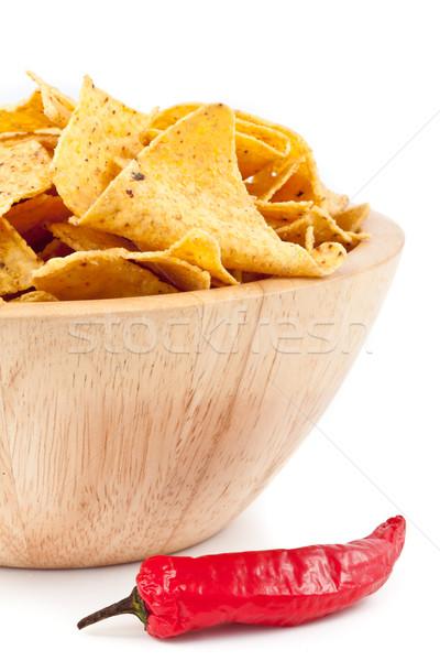 Pimento near to a bowl of crisps Stock photo © wavebreak_media