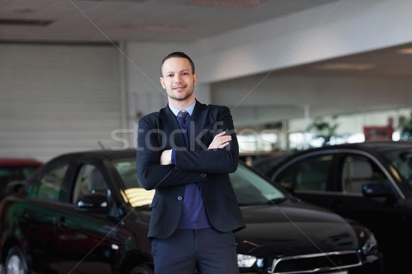 Man permanente auto handel pak zwarte Stockfoto © wavebreak_media