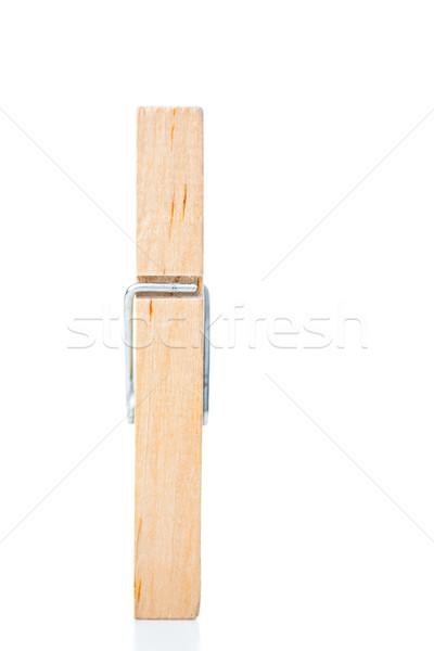 木製 洗濯挟み 白 春 金属 白地 ストックフォト © wavebreak_media