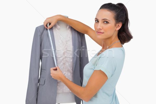 Disenador chaqueta maniquí blanco moda Foto stock © wavebreak_media