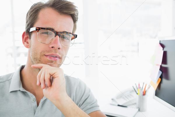 Retrato sério casual masculino foto editor Foto stock © wavebreak_media
